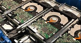 Hard drives ready for destruction