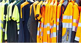 Rack of safety vests